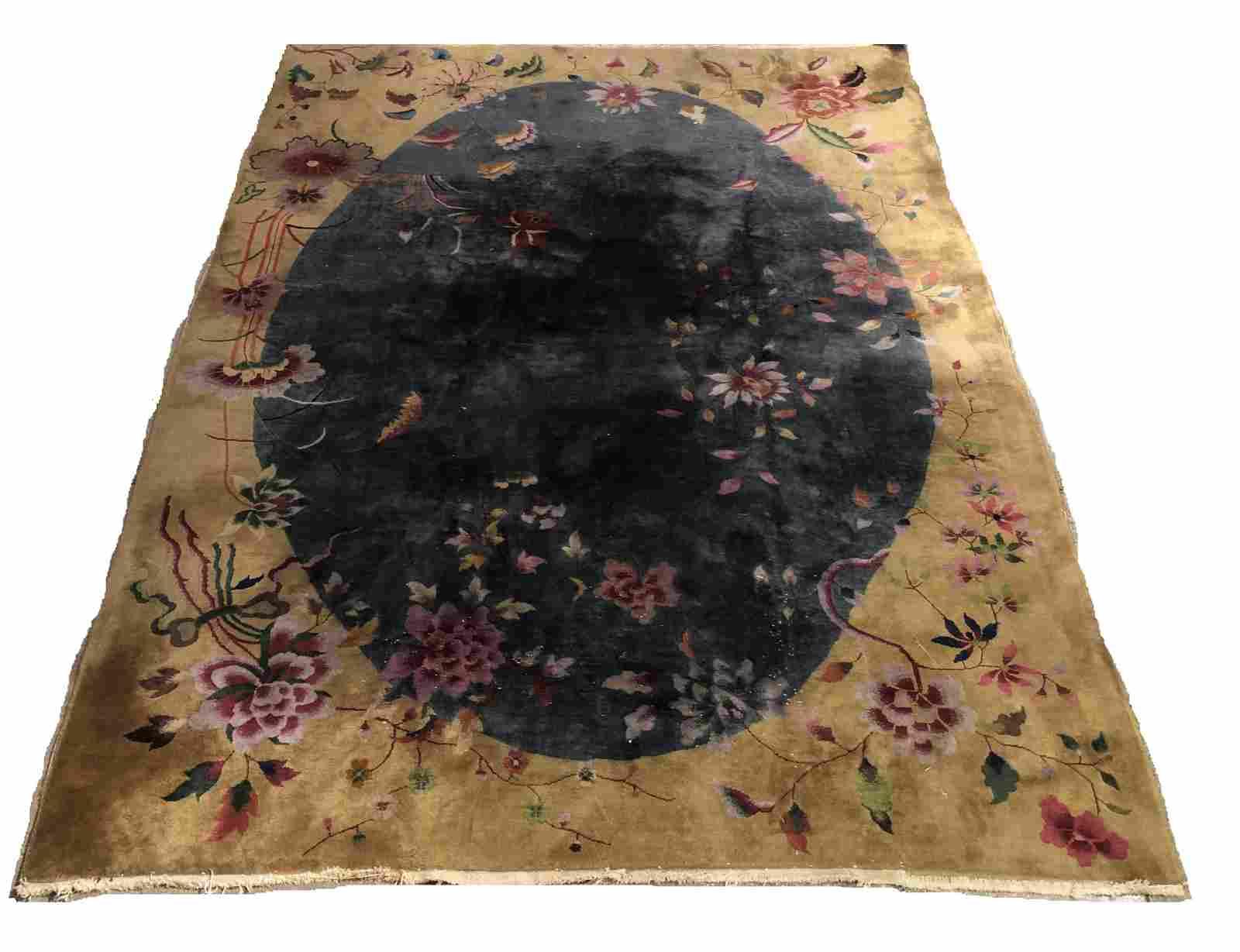 "Chinese Nichols Art Deco Carpet, 11' 5.5"" x 8' 8"""