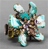 Iradj Moini Turquoise Amethyst  Quartz PinBangle
