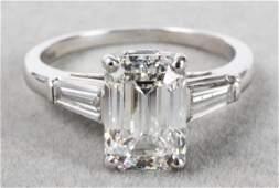 Diamond  Platinum Ring Approx 3 Ct GIA