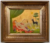 "John Wilde ""Her Menagerie"" Oil on Canvas"