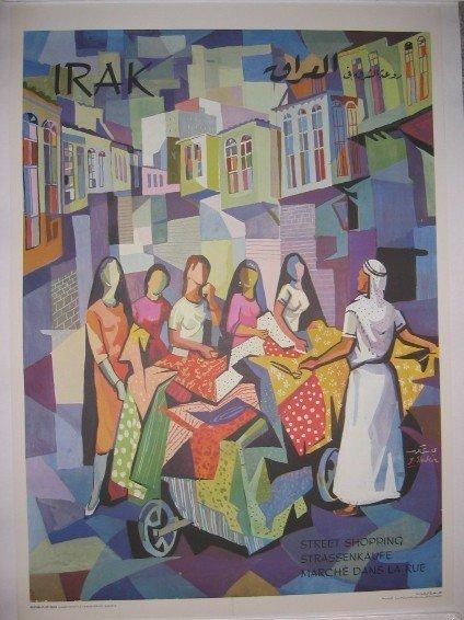 5: Irak [Iraq] Shopping Cubist Poster by Shakir
