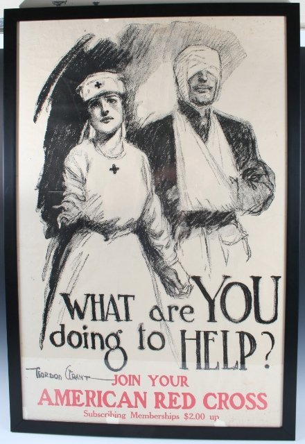 9: Red Cross WWI Poster by Gordon Grant