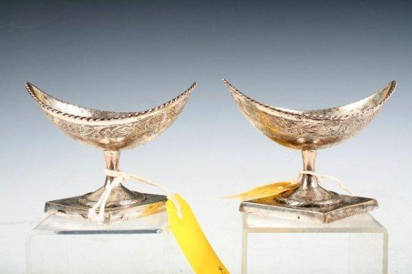 140: Pair of Silver Salt Cellars c 1820 German
