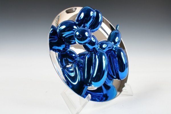 402: Jeff Koons Blue  Balloon Dog  Plate Sculpture - 3