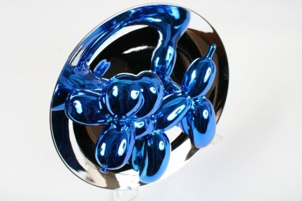 402: Jeff Koons Blue  Balloon Dog  Plate Sculpture - 4