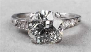 2.48 Ct GIA Old European Brilliant Diamond Ring