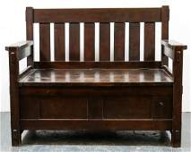 Gustav Stickley Hall Seat Model No. 182