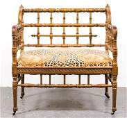 Victorian Turned Wood Bamboo Motif Chair