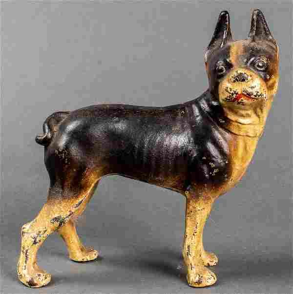 Hubley Americana Cast Iron Boston Terrier Doorstop