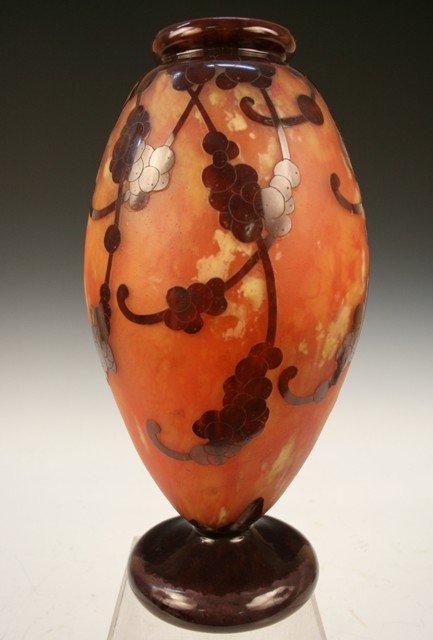 8: French Nouveau Le Verre Cameo-Glass Vase