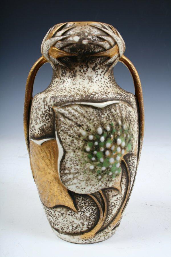 10: Wahliss Nouveau Amphora w/Applied White Jewels