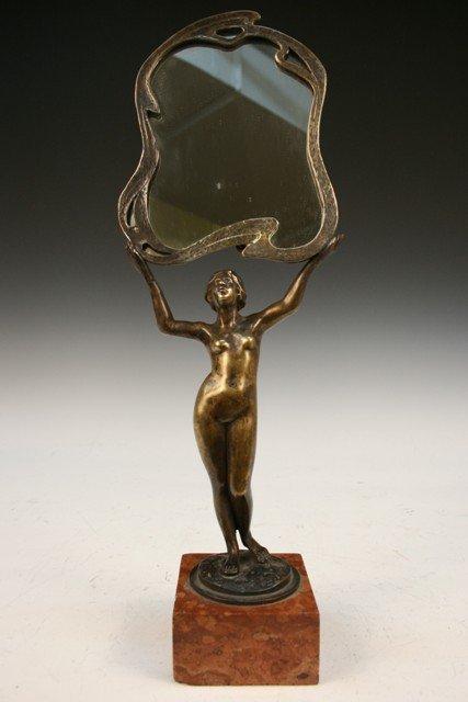 18: Budapest Bronze Vanity Mirror w/Nude ca. 1890