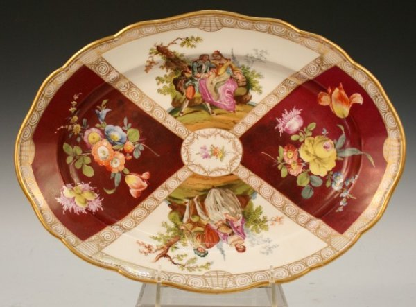 20: Meissen Hand-Painted-Porcelain Charger 20th C.