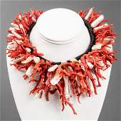 Lotus Arts de Vivre 18K, Coral & Pearl Necklace
