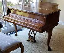 Steinway Walnut Baby Grand Piano, 1979