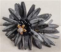 Vilaiwan Concrete Gilt Metal  Rhinestone Bracelet