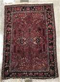 "Persian Floral Rug, 3' 9"" x 2' 7"""