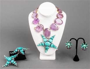 Iradj Moini Amethyst & Turquoise Jewelry Suite, 5
