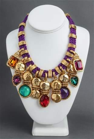 Emanuel Ungaro Gold-Tone Resin & Crystal Necklace