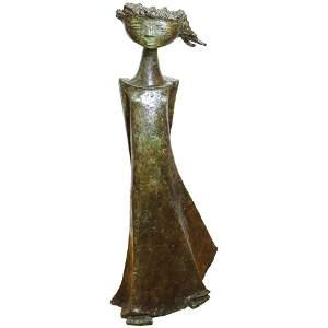 Angel Botello 'Coup de Vent II' Signed Bronze