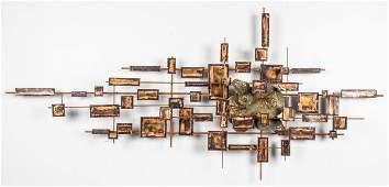 Sasa Ulbricht Brutalist Metal Wall Sculpture