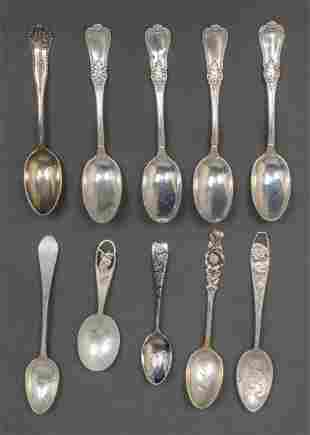 Assortment of Sterling Silver Spoons, 10