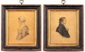 Littlejohn Signed 19th C. English Portraits, Pair