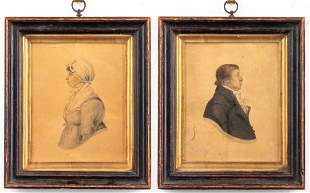 Littlejohn Signed 19th C. English Portraits, Pair