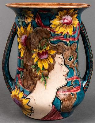 Royal Bonn Art Nouveau Pottery Vase