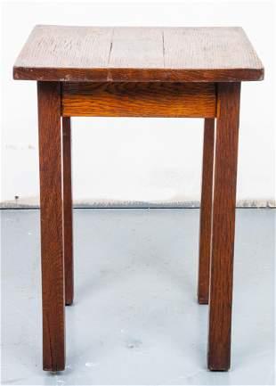 Gustav Stickley Craftsman Mission Oak Side Table