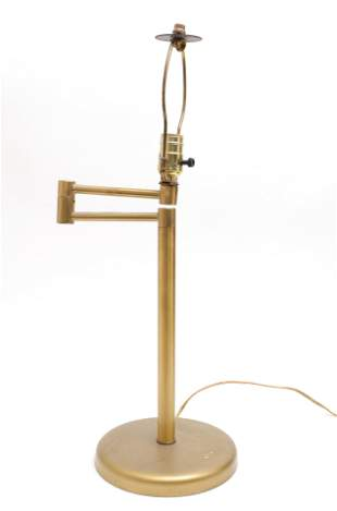 Hansen Style Modern Brass Swing Arm Table Lamp