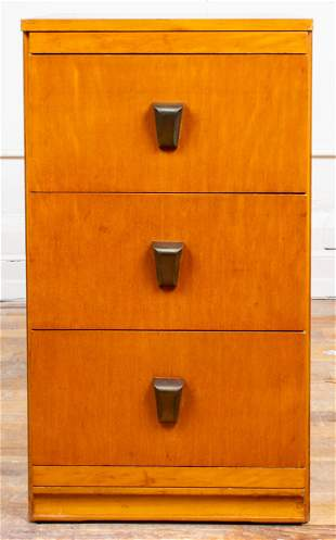 Art Deco Manner Three Drawer Chest