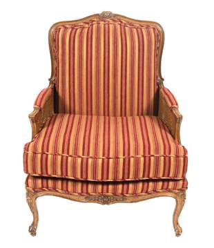 French Louis XV Manner Caned Bergere Chair