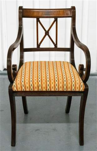 Regency Brass Inlaid Armchair