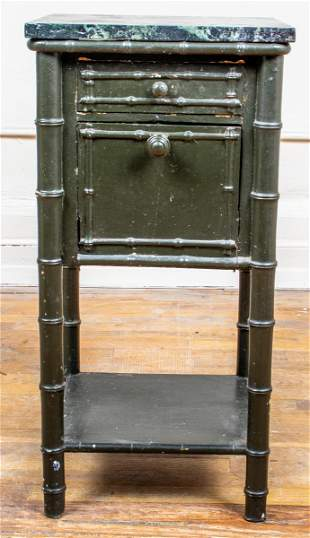 Hollywood Regency Style Bamboo Motif Side Table