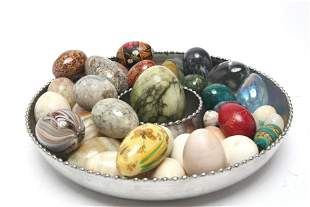 Hardstone Eggs & Others, Assorted Group of 40+