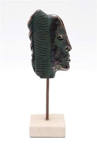 "V.C. Cortes ""Modern Profile"" Ceramic Sculpture"