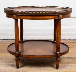 Louis XVI Style Gilt Metal Mounted Tea Table
