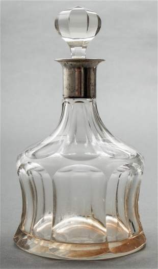 German 800 Silver & Cut Glass Decanter