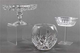 Cut Crystal Glassware, Group of 3