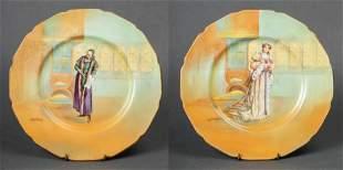 "Royal Doulton ""Shylock"" & ""Katharine"" Plates, 2"