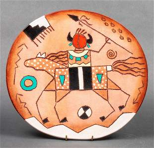Red Horse Clay Southwest Pottery Charger