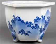 Chinese Blue & White Planter