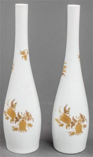 """Rosenthal """"Studio Linie"""" Porcelain Vases, Pair"""