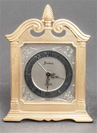 Gorham Sterling Silver Cyma Watch Co Clock Vintage