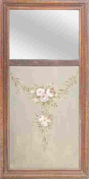 Hand-Painted Trumeau Mirror, Vintage
