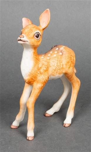 "Boehm ""Fawn"" Bisque Porcelain Figurine"