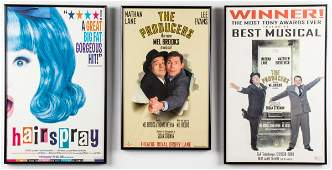 Broadway Musical Posters, 3 Pcs