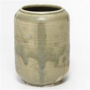 Modernist Green-Glazed Art Pottery Vase