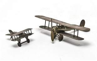 Metal Airplane Sculptures from Bullet Casings, 2